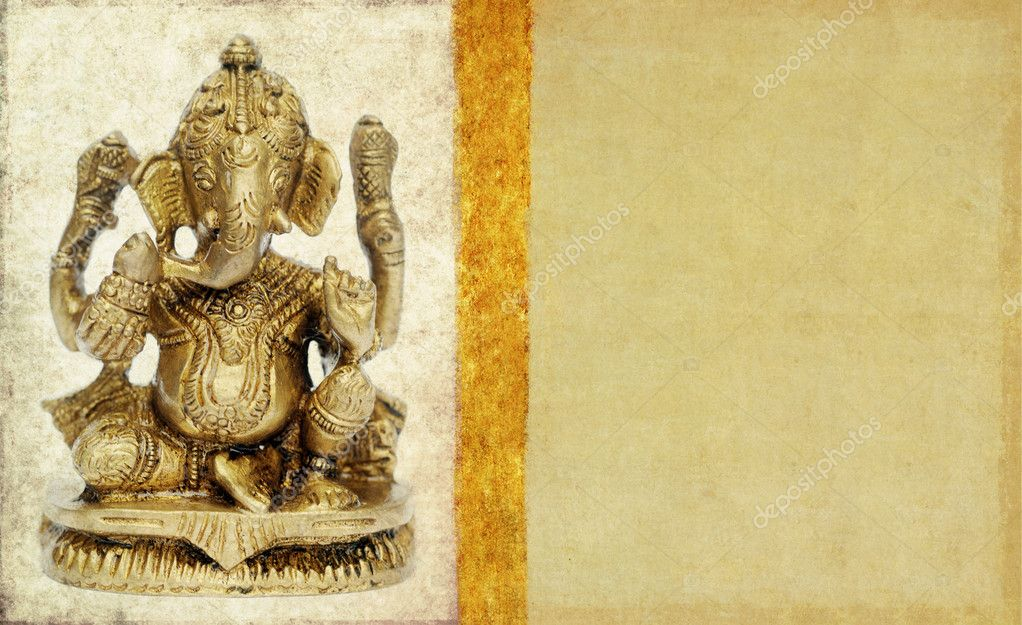 Lovely background image with figure of hindu deity ganesha. very useful design element. — Stock Photo #9887907