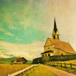 Church in alpine landscape — Stock Photo #9956257