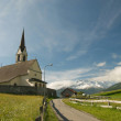Church in alpine landscape — 图库照片