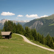 Majestic alpine landscape - Stock Photo