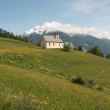 Church in alpine landscape — Photo