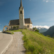 Alpine landscape with church — Stock Photo