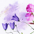 Colorful illustration with floral elements. useful design element. — Stock Photo #9958952