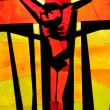 Lovely abstract image depicting jesus christ on the cross - Stock Photo
