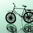 Bike  isolated on green background - Stok fotoğraf