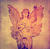 Background image with cherub and interesting earthy texture — Stock Photo