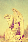Beautiful statue in english cemetery — Foto Stock