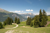 Swiss alpine landscape — Stock Photo