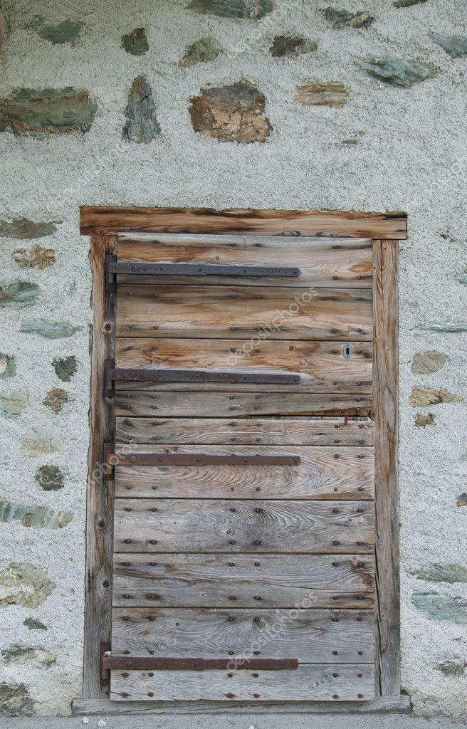 Door in an old house  Stock Photo #9955530