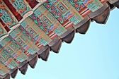 Dak van een tempel — Stockfoto