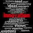 Innovation 3d -  on a black background - Stock Photo