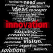 Innovation 3d - on a black background — Stock Photo