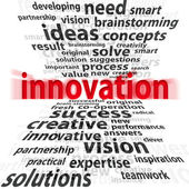 Innovation 3d - on a white background — Stock Photo