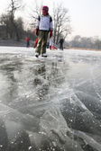 Danger on the ice — Stock Photo