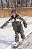 Chico patinar en movimiento — Foto de Stock