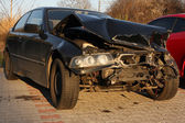 New car damaged in an accident. — Stock Photo