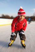 Girl skating in motion — Stock Photo