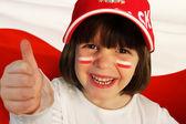 Polish girl sports fan — Stock Photo
