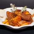 Ribs with potatoes — Stock Photo