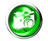 Photo Icon Button — Stock Photo