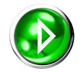 Grön nästa ikonen knapp — Stockfoto