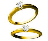 El anillo de bodas de belleza — Foto de Stock