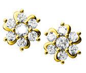 Die schönheit-diamant-ohrringe — Stockfoto