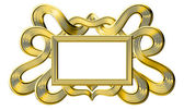 Gold frame isolated on white background — Stock Photo