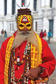 Nepalese sadhu — Stock Photo