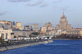 Moscva River and view on centre of Moscow, Russia — Stock Photo