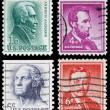 nas starych znaczków pocztowych — Zdjęcie stockowe