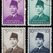 Indonesian postage stamps — Stock Photo