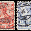 Vintage postage stamps of Deutsches Reich — Stock Photo