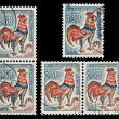 Stock Photo: French postage stamps