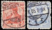 Vintage postage stamps of Deutsches Reich — Stock Photo
