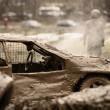 Stock Photo: Off-road auto racing