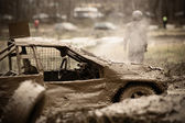 Auto off-road racing — Foto Stock