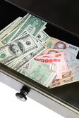 US dollars & Thai bahts — Stock Photo