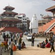 Stock Photo: Basantapur Durbar Square, Kathmandu, Nepal