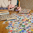 Stock Photo: Philatelist