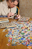 Philatelist — Stock Photo
