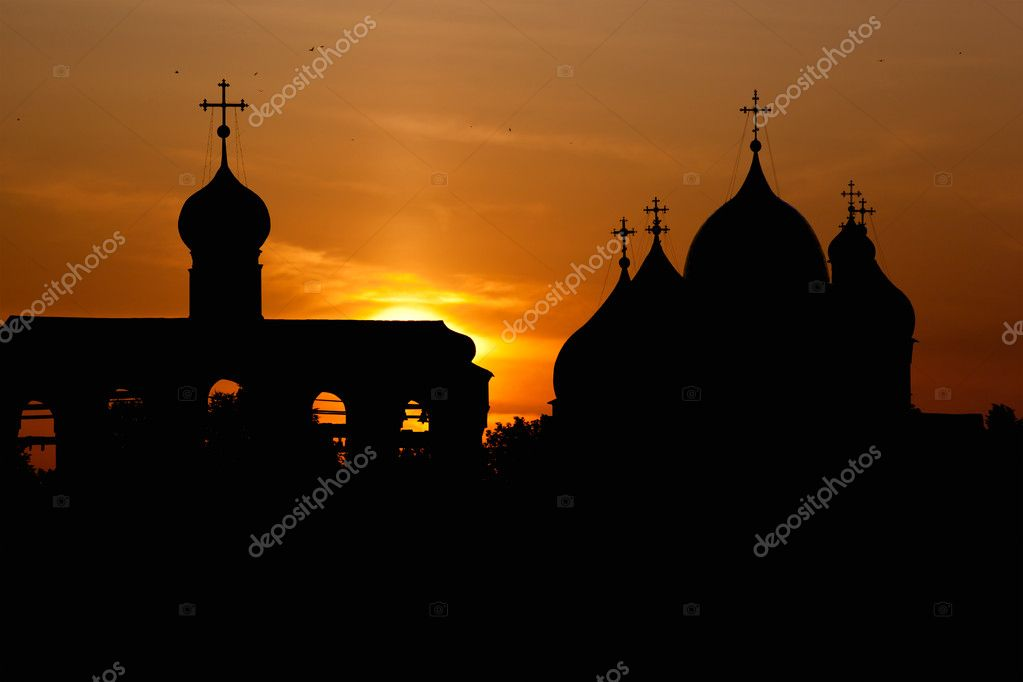 Cathedral of St. Sophia in Kremlin of Veliky Novgorod, Russia — Stock Photo #9885761