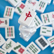 Stack of mahjong tiles - Stock Photo