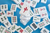 Stack of mahjong tiles — Stock Photo
