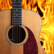 Guitar on fire — Stock Photo #10362218