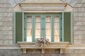 Traditional european window — Stock Photo