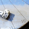 Sundial dice — Stock Photo
