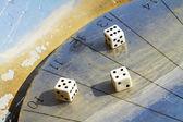 Sundial dice — Stock Photo