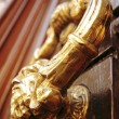 Stock Photo: Antique drawer door handle