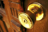 Golden knob — Stock Photo